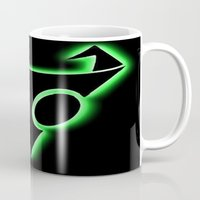 invader zim Mugs featuring INVADER ZIM LOGO by jjb505