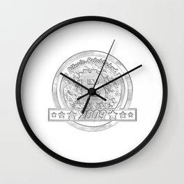 Bitcoin Established 20092009 Colorful Wall Clock