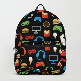 Video Game Party Snack Pattern Backpack