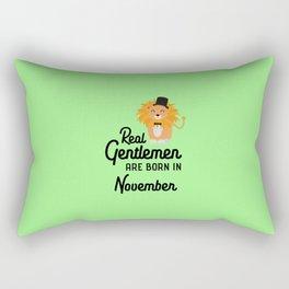 Real Gentlemen are born in November T-Shirt D76j0 Rectangular Pillow