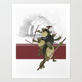 Turtle Drome Art Print