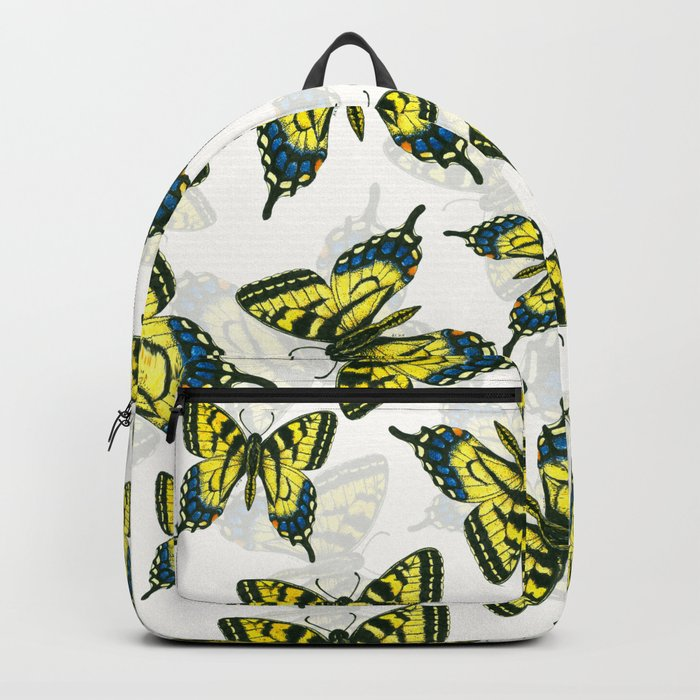 Tiger swallowtail butterfly watercolor pattern Backpack