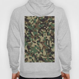 Military camouflage pattern Hoody