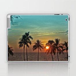 Sunset at Mauna Kea Beach, Hawaii Teal Laptop & iPad Skin