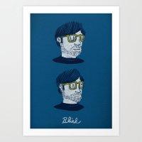 blink 182 Art Prints featuring Blink by Drew Brockington