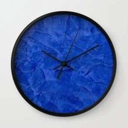 Dark Classic Blue Ombre Burnished Stucco - Faux Finishes - Venetian Plaster - Corbin Henry Wall Clock
