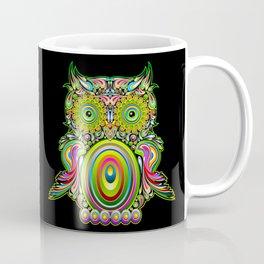 Owl Psychedelic Art Design Coffee Mug