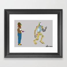 My Robot and I Framed Art Print