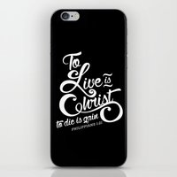 verse iPhone & iPod Skins featuring Typographic Verse by Ruthie Designs