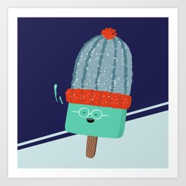 Ice lolly in wintertime Art Print