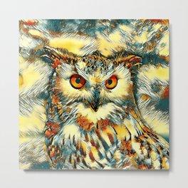 AnimalArt_Owl_20170912_by_JAMColorsSpecial Metal Print