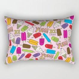 Ice Cream Doodles Rectangular Pillow