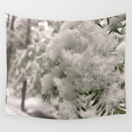 Crystal Snowflakes Wall Tapestry