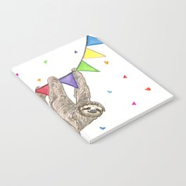 Sloth with Bunting #1 Notebook