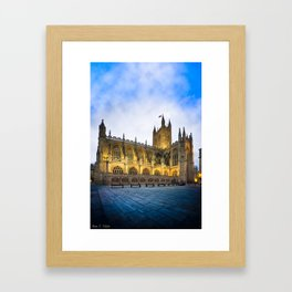 Beautiful Bath Abbey At Dusk Framed Art Print