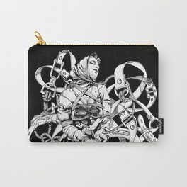 Lady in Belts Fantasy. Black Ink. Yury Fadeev. Carry-All Pouch