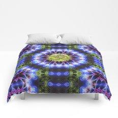 Om Shanti Fractal Geometry series #1 Comforters