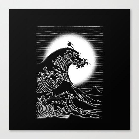 Waterbending (Black) Canvas Print