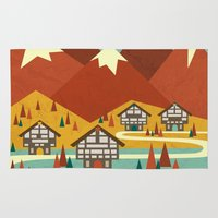 switzerland Area & Throw Rugs featuring Switzerland by Kakel