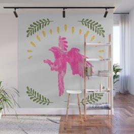 Pink Falcon Wall Mural