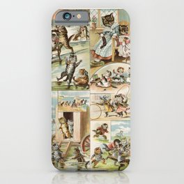 Storybook Cats, Arie Willem Segboer, 1903 - 1919 iPhone Case