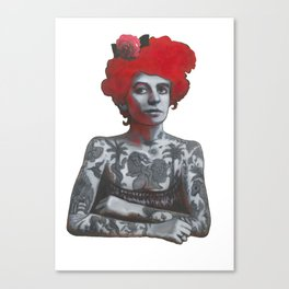 The tattooed girl Canvas Print
