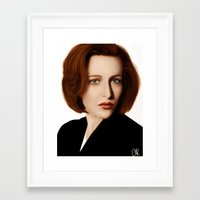 scully Framed Art Prints featuring Scully by Alexia Rose