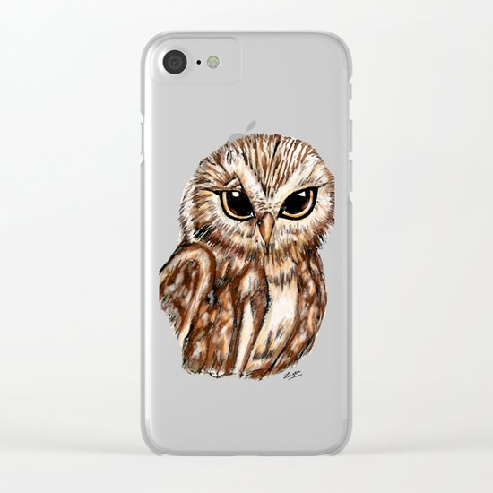 Wise 'Ole Owl Clear iPhone Case