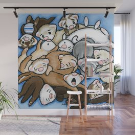 Wall to Wall Weasels Wall Mural