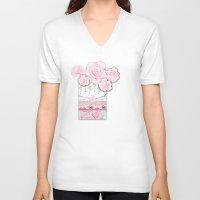 shabby chic V-neck T-shirts featuring A Pocket Full of Shabby Chic by KarenHarveyCox