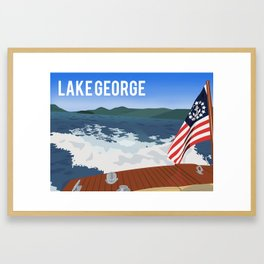 Hacker on Lake George Framed Art Print