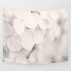 White Hydrangea Wall Tapestry
