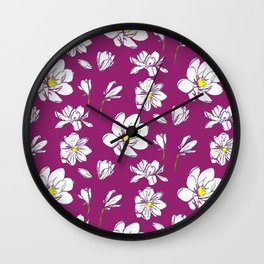 Magnolia Raspberry Wall Clock