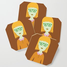 The Girl with the Baby Bangs Coaster