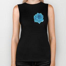 Roses aren't blue, Pointillism Rose Biker Tank