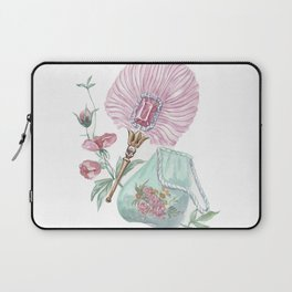 Fan and handbag in the style of Marie Antoinette Laptop Sleeve