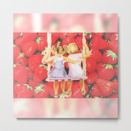 Strawberry Swing Metal Print