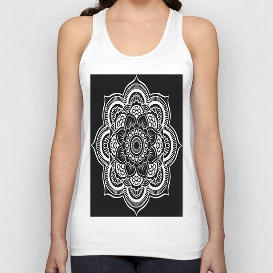 Mandala Black & White Unisex Tank Top