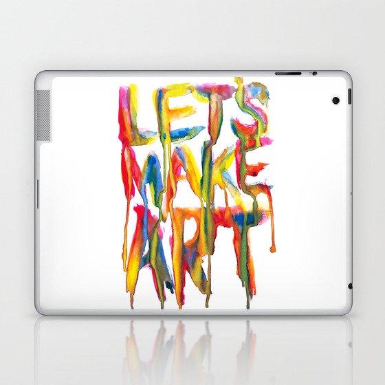 LET'S MAKE ART Laptop & iPad Skin