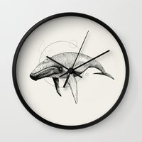 glee Wall Clocks featuring 'Wildlife Analysis VII' by Alex G Griffiths