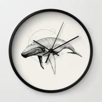 wildlife Wall Clocks featuring 'Wildlife Analysis VII' by Alex G Griffiths