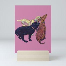 Three Amigos II in pink Mini Art Print