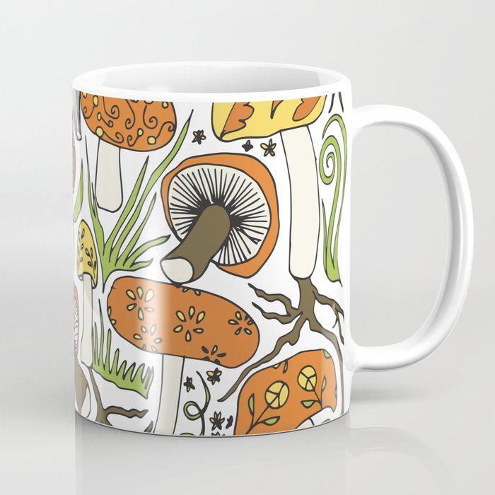 Hand-drawn Mushrooms Coffee Mug