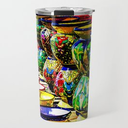 Talavera Pottery Jars for Sale in New Mexico Travel Mug