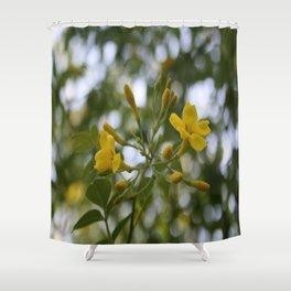 Shaded Carolina Jessamine Shower Curtain
