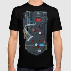 Proton pack, Ghostbusters Mens Fitted Tee MEDIUM Black