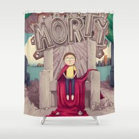akira Shower Curtains featuring The GOOD Morty by engelen