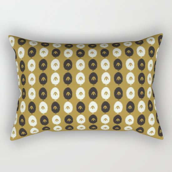 Sheep ochre Rectangular Pillow