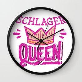 DEUTSCHER SCHLAGER SCHLAGERSÄNGER SCHLAGERSTARS VOLKSMUSIK MUSIK PARTY DESIGN Wall Clock