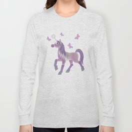 Lilac Unicorn .. fantasy art Long Sleeve T-shirt
